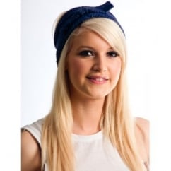 Indigo Blue Bow Headband