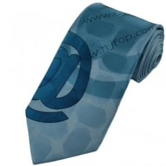 Internet Themed Blue Silk Tie