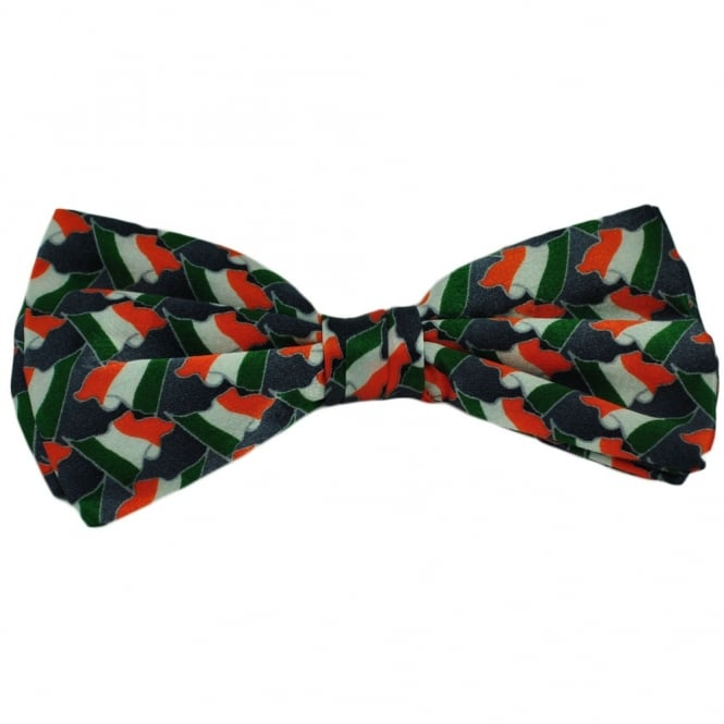 a59254d94381 Ireland Flag Silk Bow Tie from Ties Planet UK