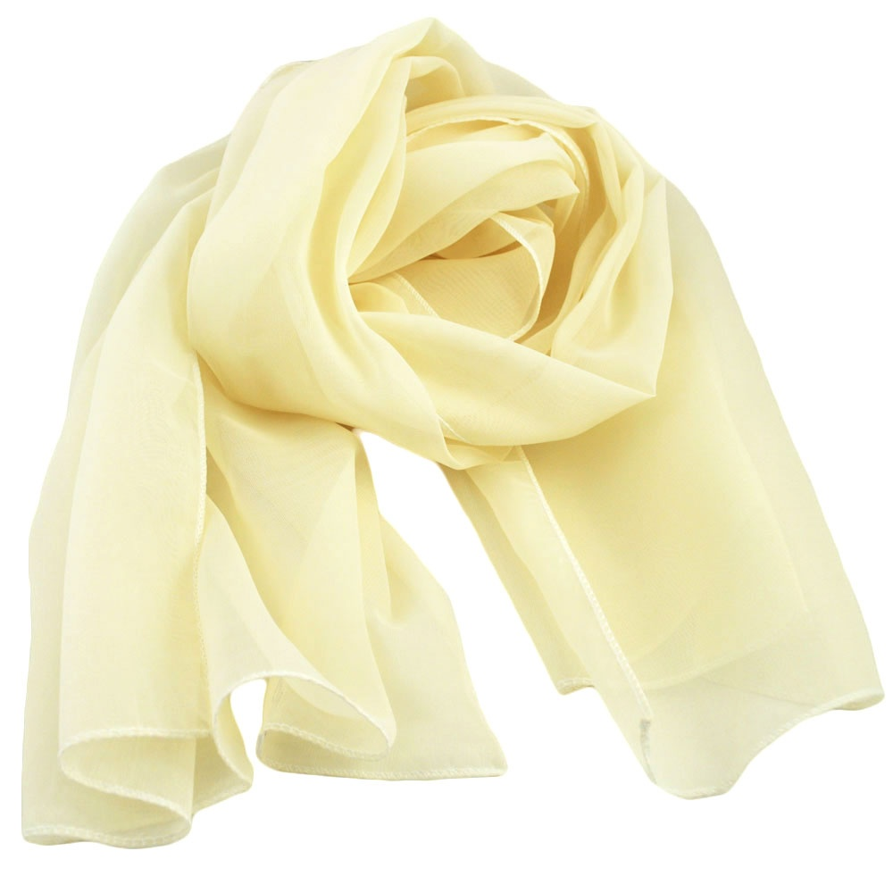 ivory chiffon scarf from ties planet uk