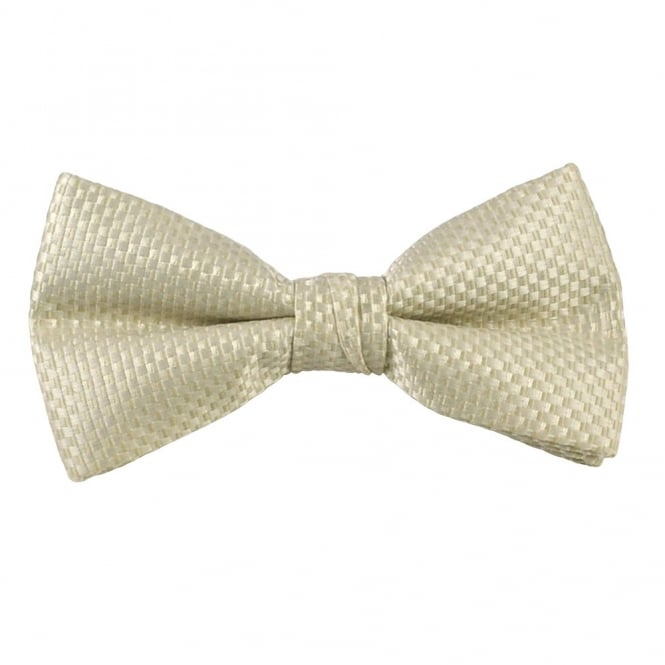 Ivory & Cream Micro Checked Bow Tie