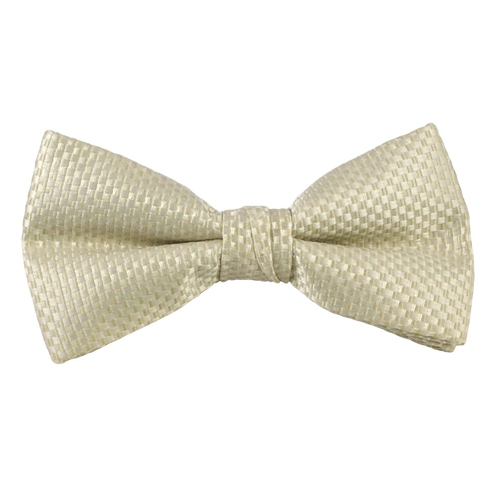 ivory micro checked bow tie from ties planet uk