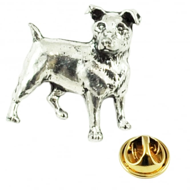 Jack Russell Dog Pewter Lapel Pin Badge