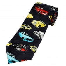 Jags & Corvette Classic Cars Novelty Tie