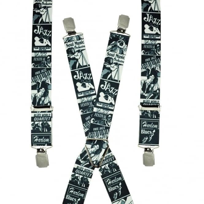 Braces & Belts Jazz Music Themed Men's Trouser Braces