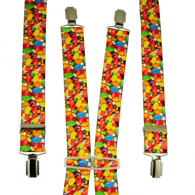 Jelly Beans Sweets Patterned Men's Trouser Braces