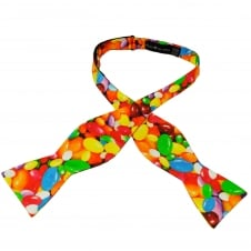 Jelly Beans Sweets Patterned Self Tie Silk Bow Tie