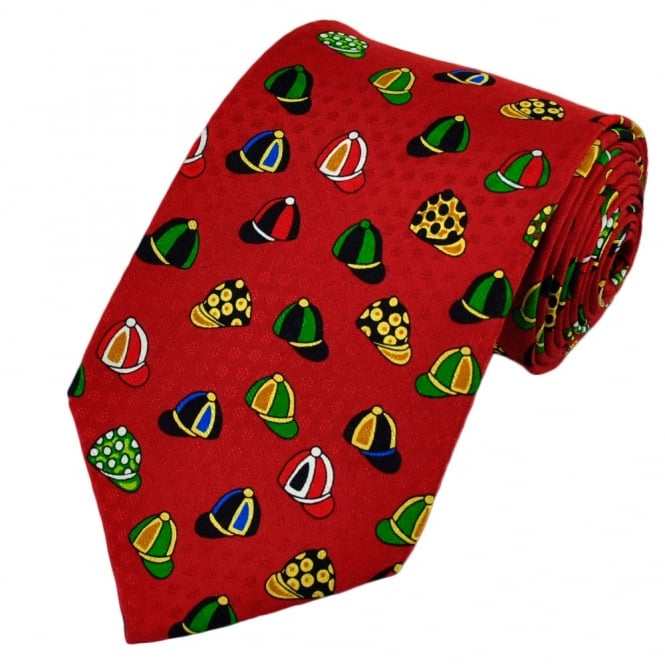 Jockey Caps Silk Novelty Tie