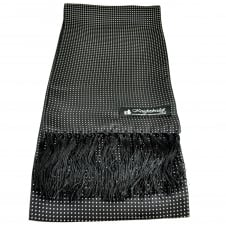 Knightsbridge Black & White Polka Dot Men's Aviator Silk Scarf