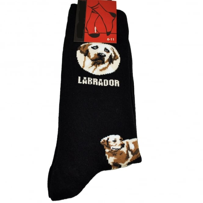 Labrador Dog Black Men's Novelty Socks