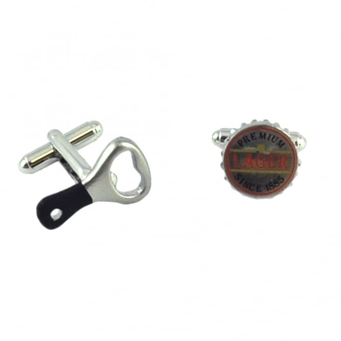 Lager & Bottle Opener Cufflinks