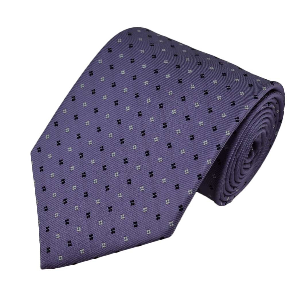 Lavender with Navy & White Pattern Tie from Ties Planet UK - photo#1