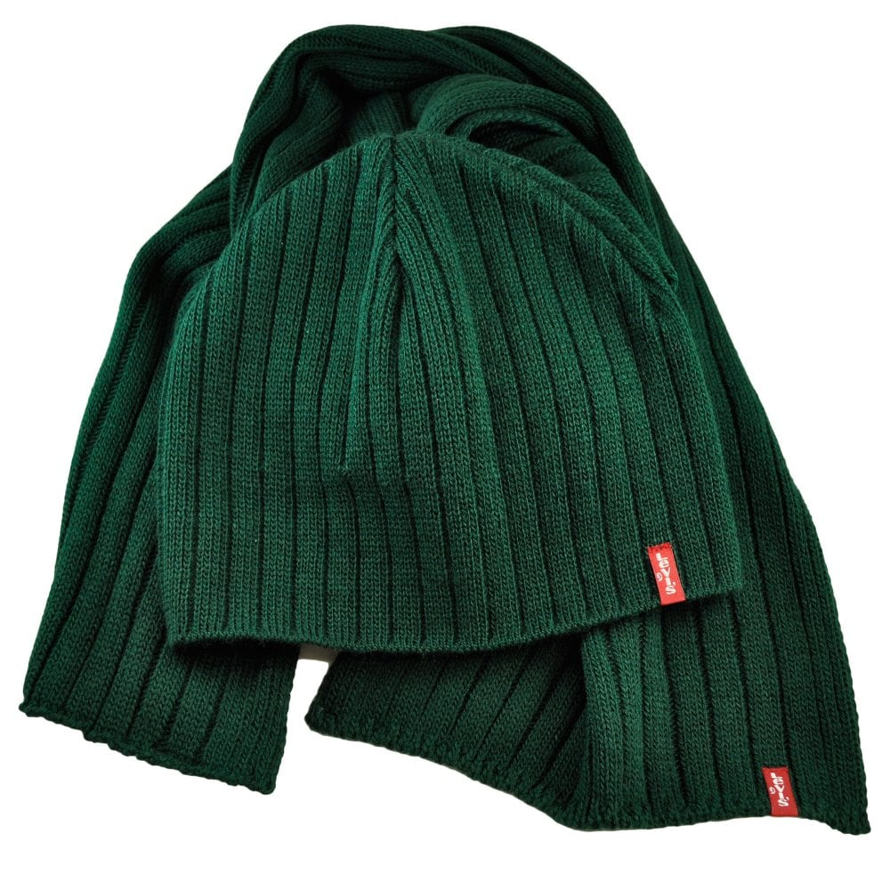 a09dbd34c82 Levi s Bottle Green Hat   Scarf Gift Set from Ties Planet UK