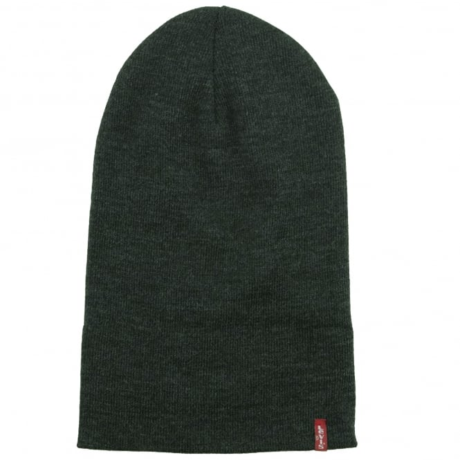 082a3848b4c Levi s Dark Grey Slouchy Red Tab Beanie Hat from Ties Planet UK