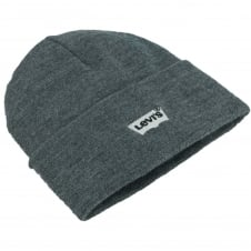 Levi's Grey Batwing Embroidered Logo Beanie Hat