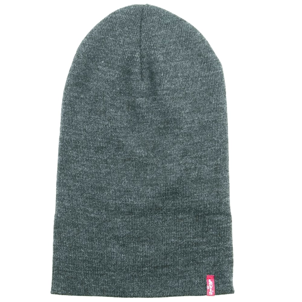 4d73d7cf Levi's Grey Slouchy Red Tab Beanie Hat from Ties Planet UK