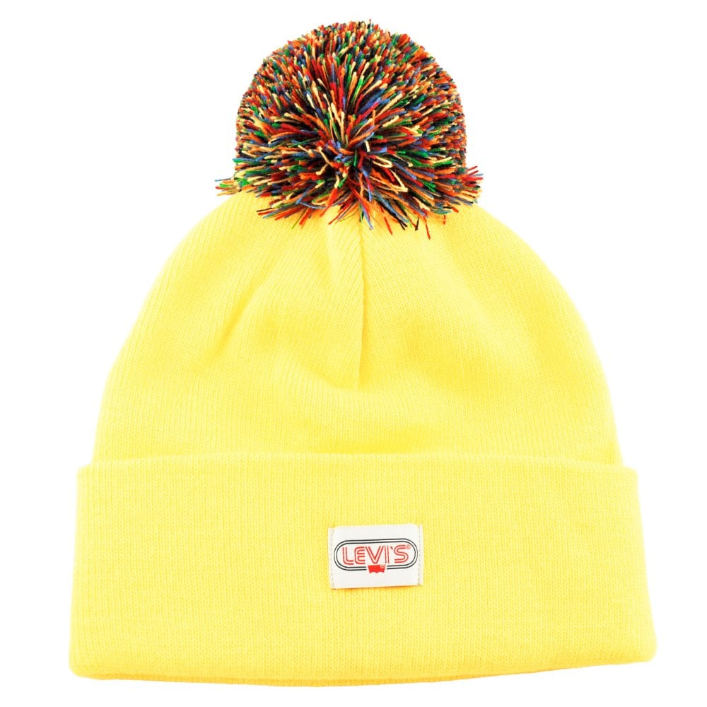 911d85ce579 Levi s Yellow Rainbow Pom Beanie Hat from Ties Planet UK
