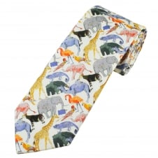 Liberty Blue Zoo Birds & Animals Men's Designer Tie