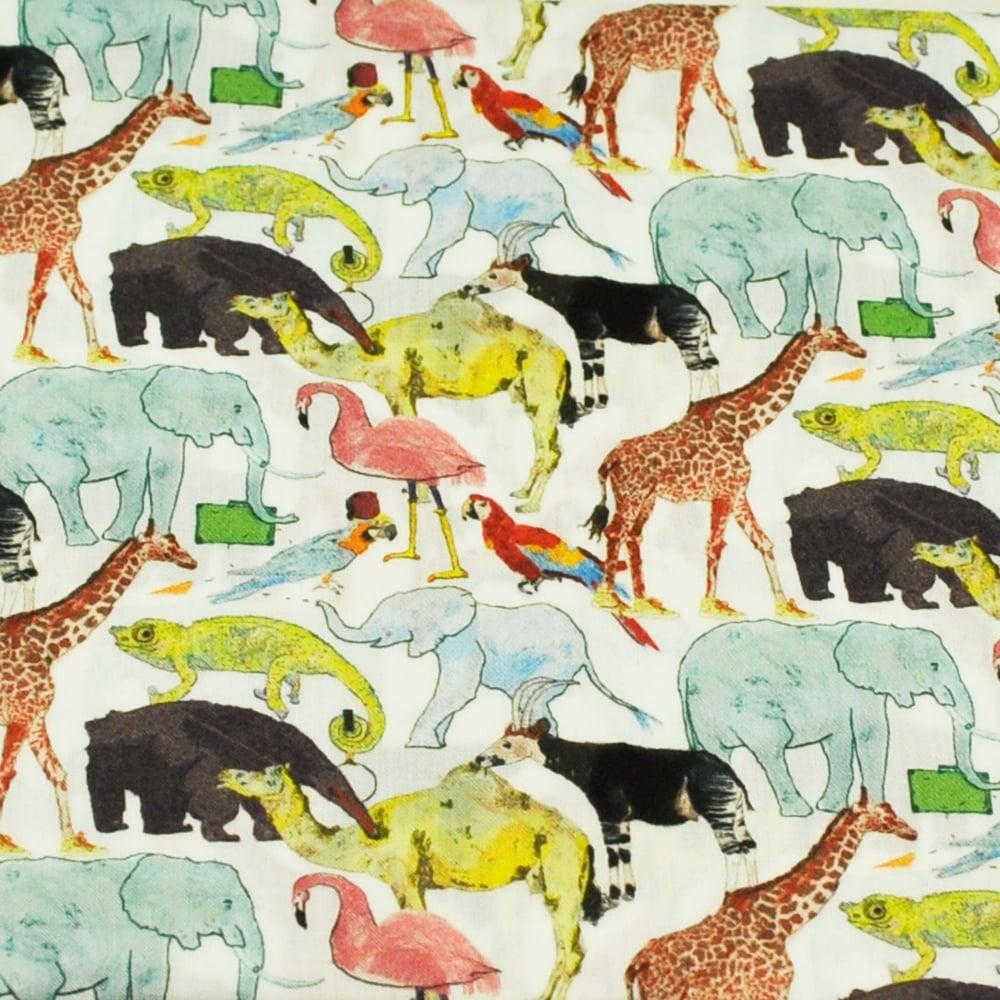 0595effaa5cb Liberty Green Zoo Birds   Animals Designer Pocket Square Handkerchief from Ties  Planet UK