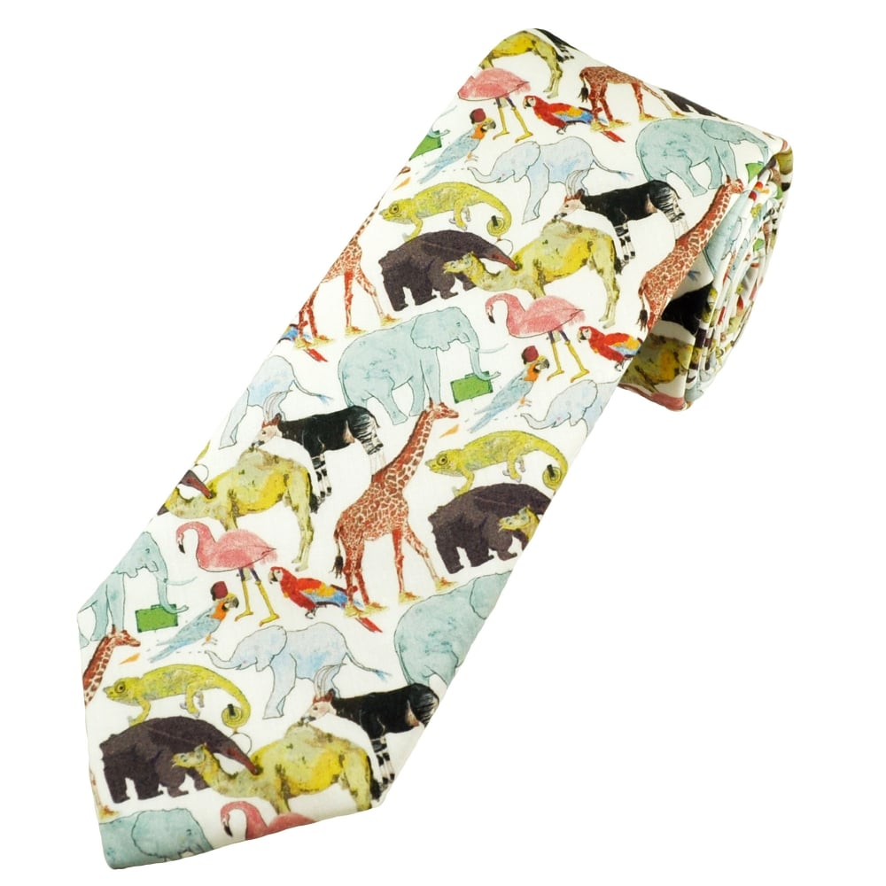 378c178a20b3 Liberty Green Zoo Birds   Animals Men s Designer Tie from Ties Planet UK