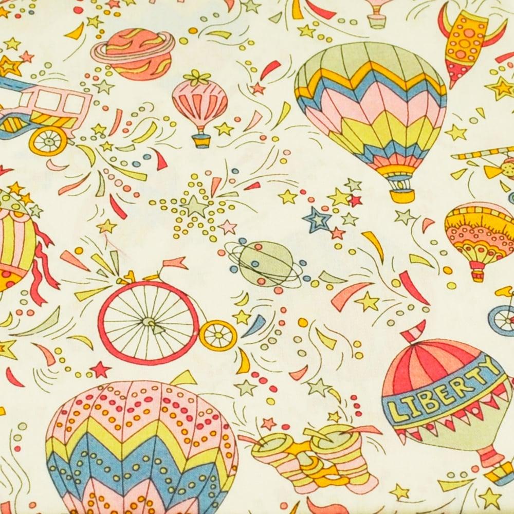 07721d4735cc Liberty Pink Hot Air Balloon Designer Pocket Square Handkerchief from Ties  Planet UK