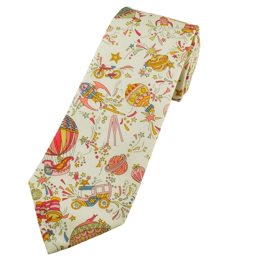 e9857c41350f Liberty Pink Hot Air Balloon Men s Designer Tie from Ties Planet UK