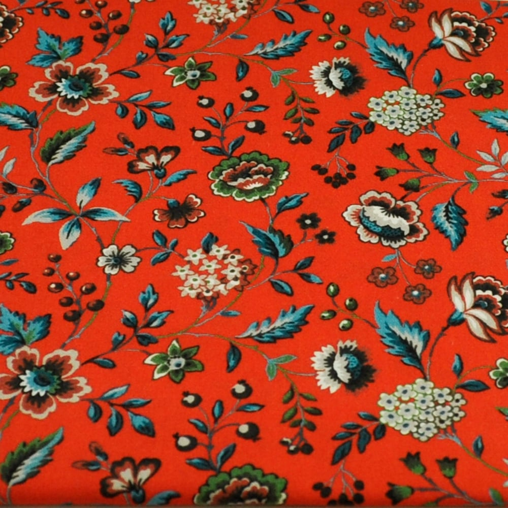 16f538fa155d Liberty Red Floral Patterned Men s Cotton Designer Pocket Square  Handkerchief from Ties Planet UK