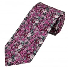 Liberty Shades of Pink & Grey Flower Patterned Designer Tie