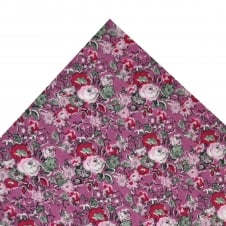 Liberty Shades of Pink & Grey Flower Patterned Pocket Square Handkerchief
