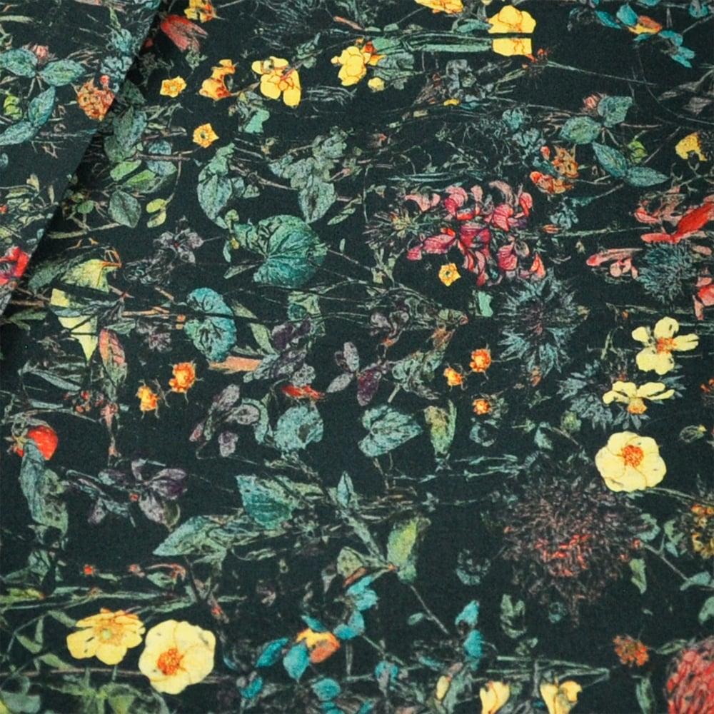 Liberty Van Buck Black Woodland Flowers Strawberries Pattern Men&#039 ...