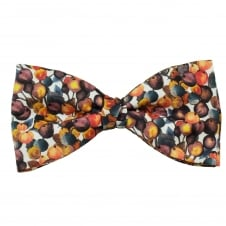 Liberty Van Buck Brown, Orange, White & Damson Autumnal Berries Men's Bow Tie