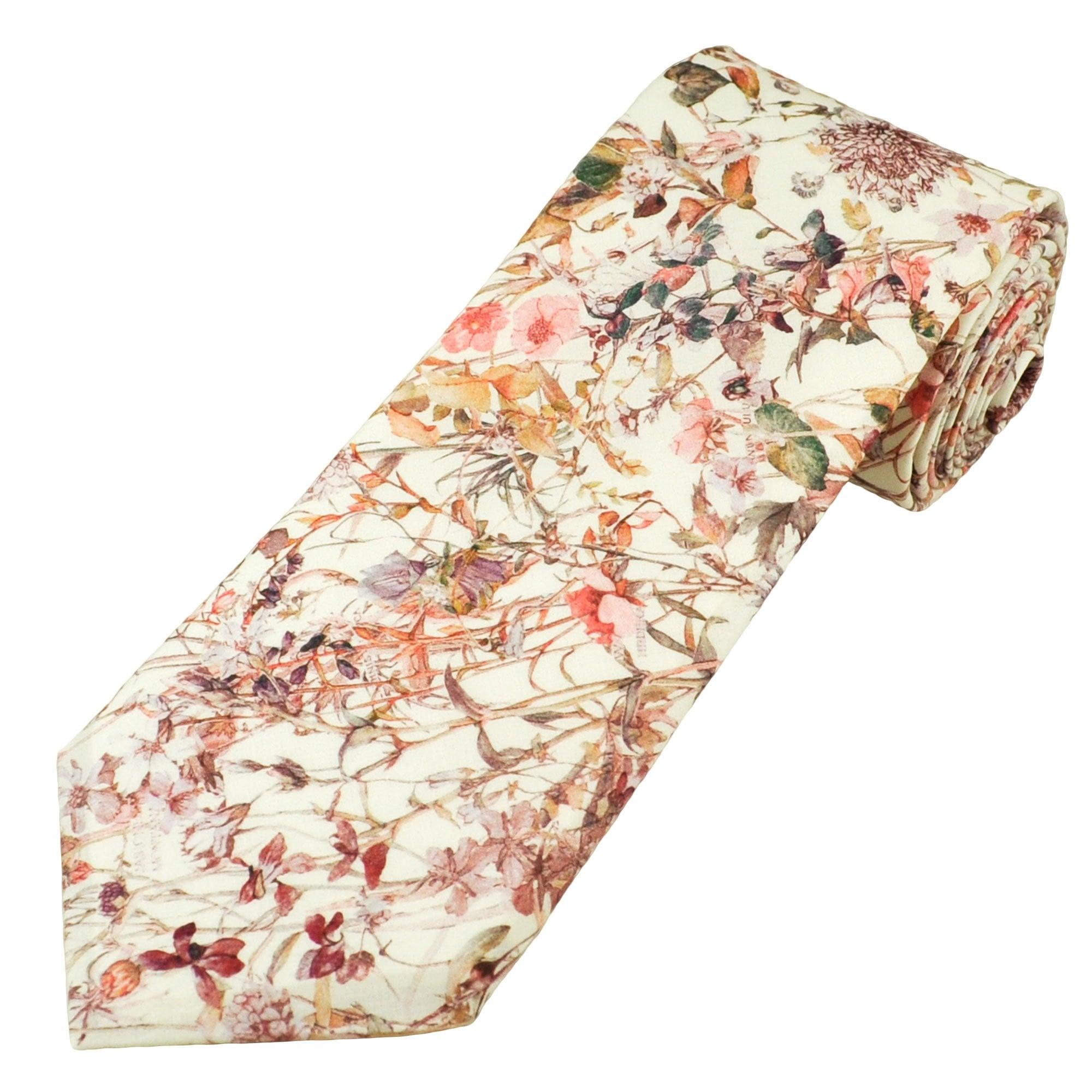 Pink Liberty Flowers Tie