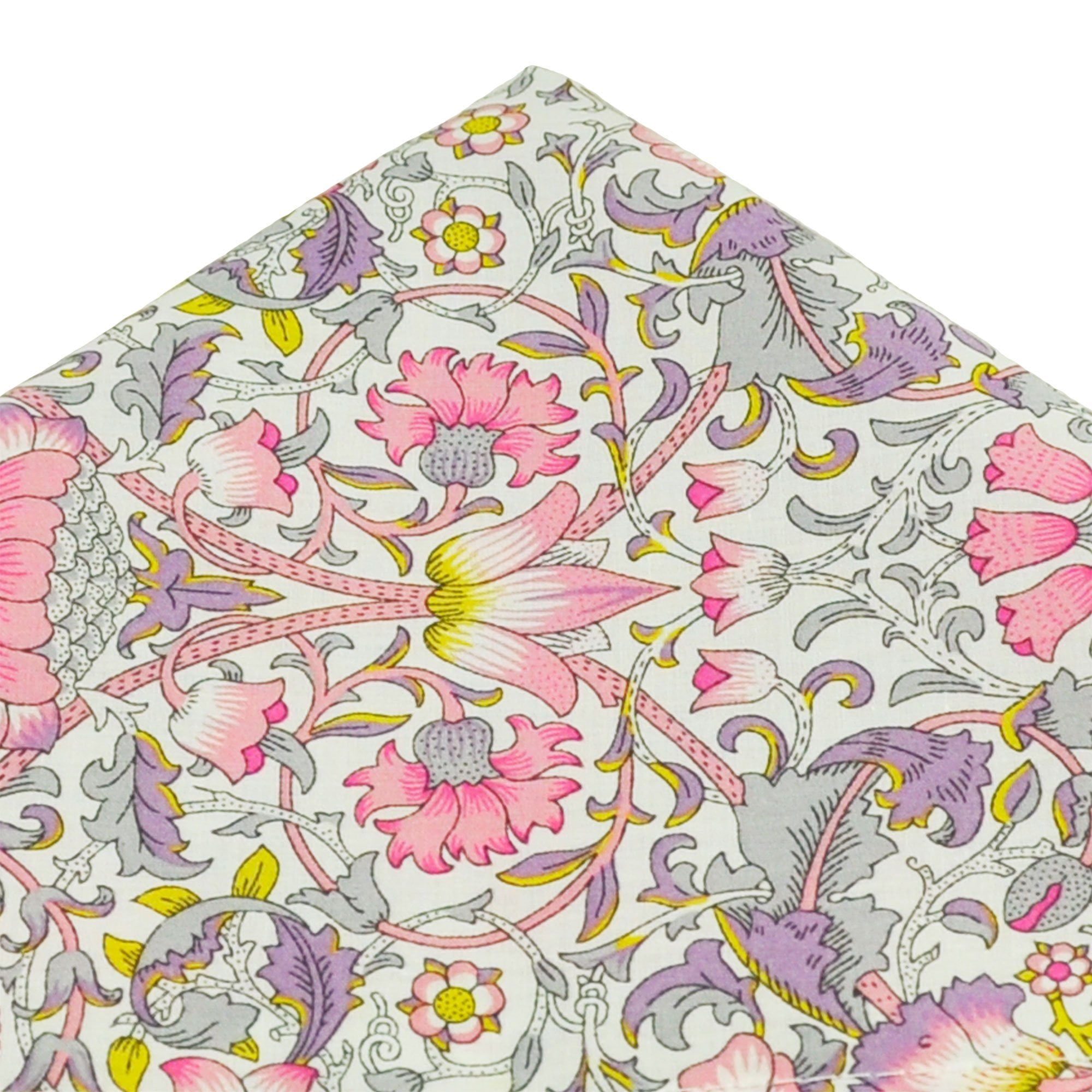 Purple Green Yellow Orange Pink Silver Red Patterned Pocket Square Handkerchief