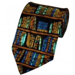Library Books Novelty Tie