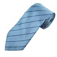 Light Blue & Navy Striped Men's Tie