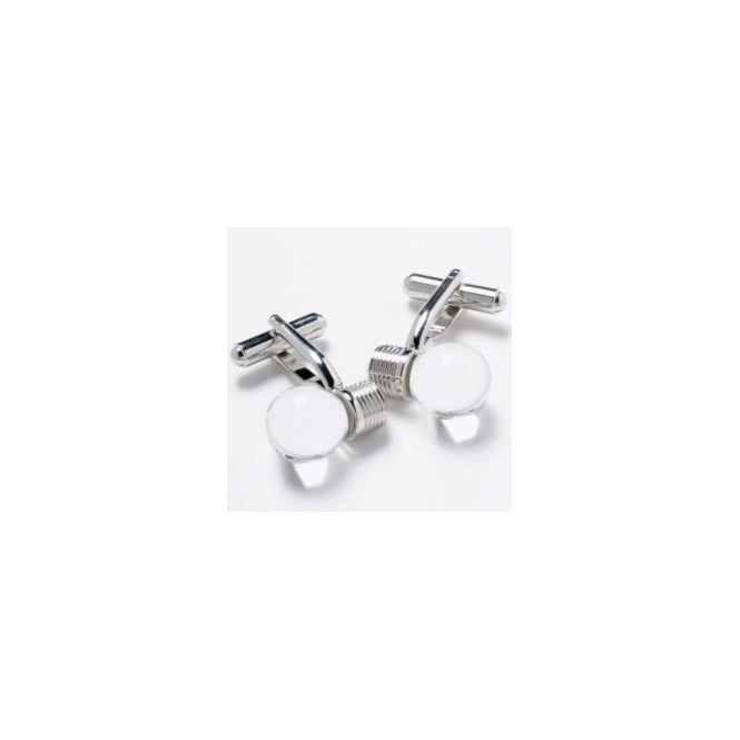 Light Bulb Novelty Cufflinks - Clear