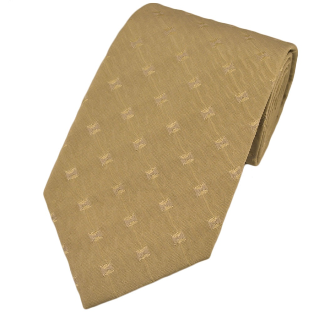 light gold beige patterned silk tie from ties planet uk