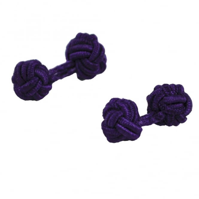 light purple elastic knot cufflinks