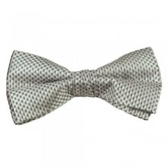 Light Silver & Grey Micro Checked Bow Tie