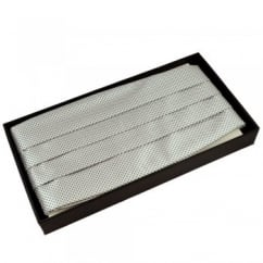 Light Silver & Grey Micro Checked Cummerbund