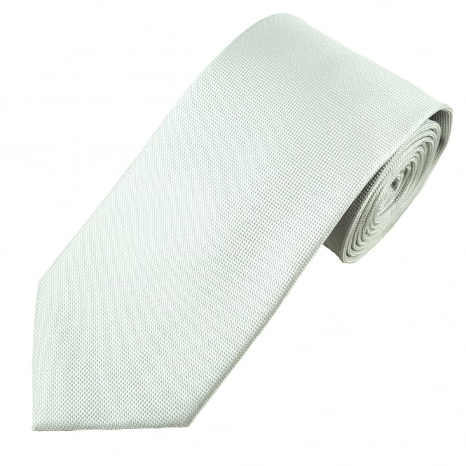 Light Silver Micro Check Patterned Men's Tie