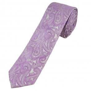 b1da8192b893 Lilac Paisley Pattern Pocket Square Handkerchief from Ties Planet UK