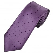 Lilac & Purple Polka Dot Men's Tie