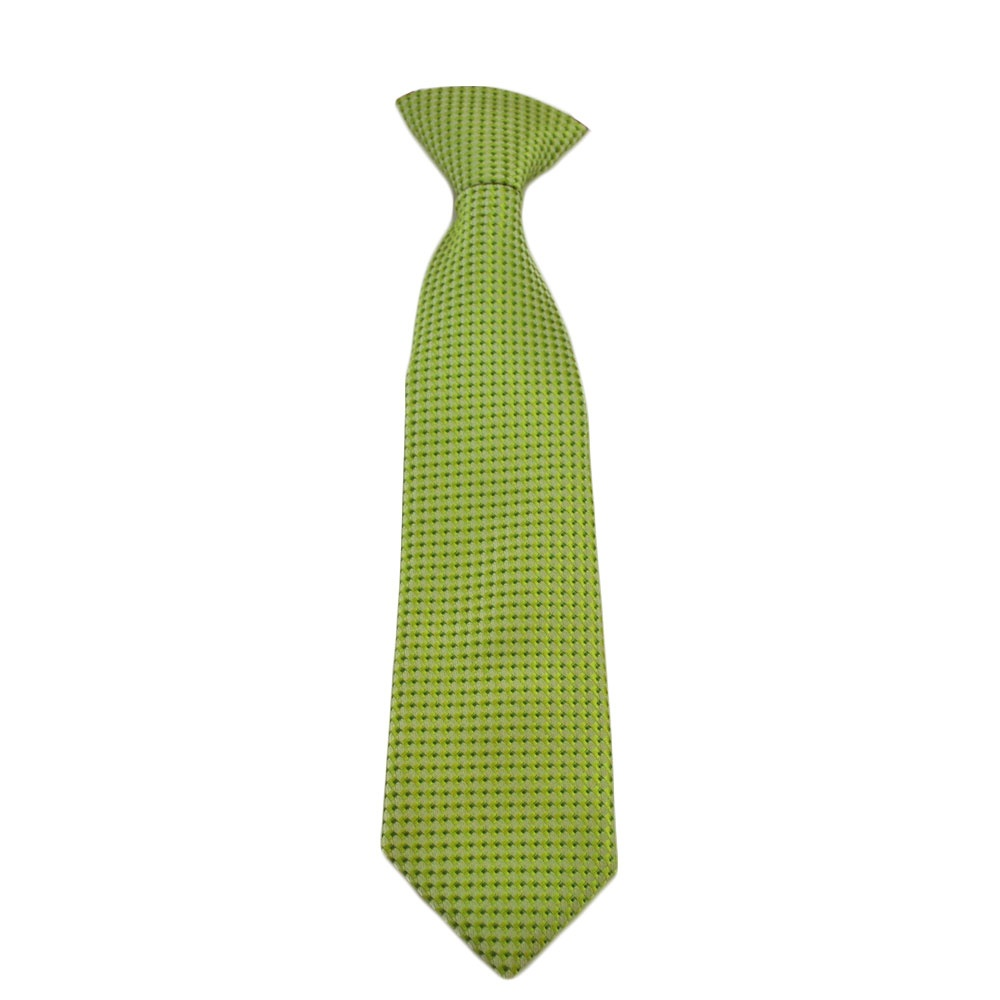 lime green elastic baby boys tie from ties planet uk