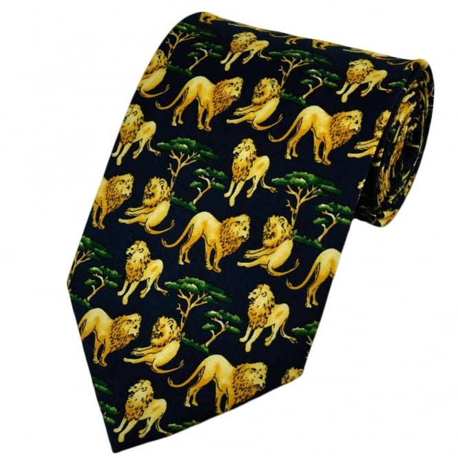 Lions Relaxing Novelty Tie