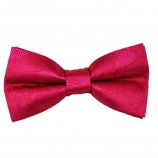 Lipstick Pink Paisley Patterned Boys Bow Tie