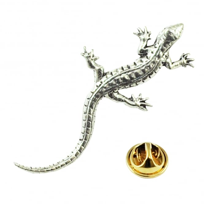Lizard English Pewter Lapel Pin Badge