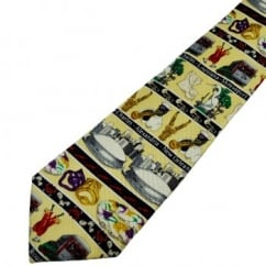 Louisiana Life & Carnivals yellow Novelty Silk Tie