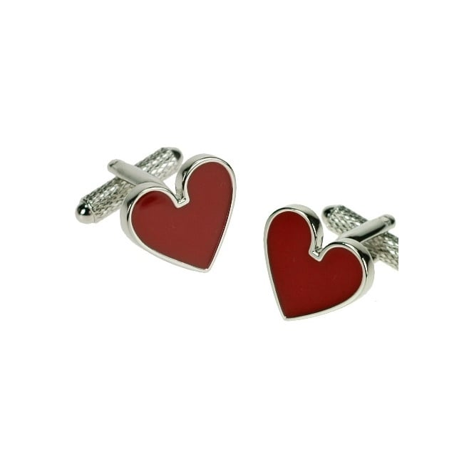 love heart novelty cufflinks