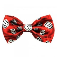 Lucky 6 Dice Men's Novelty Bow Tie